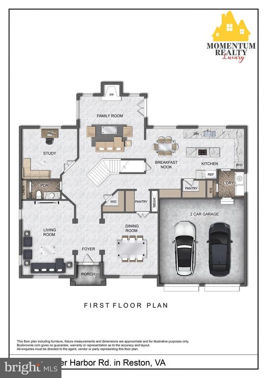 Main level is spacious and backs to trees - 11261 CENTER HARBOR RD, RESTON