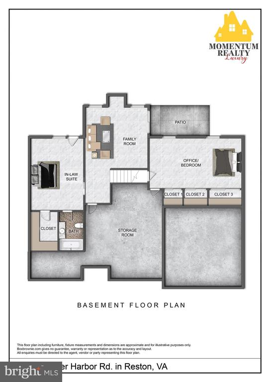 Lower Level is a Walkout elevation - 11261 CENTER HARBOR RD, RESTON