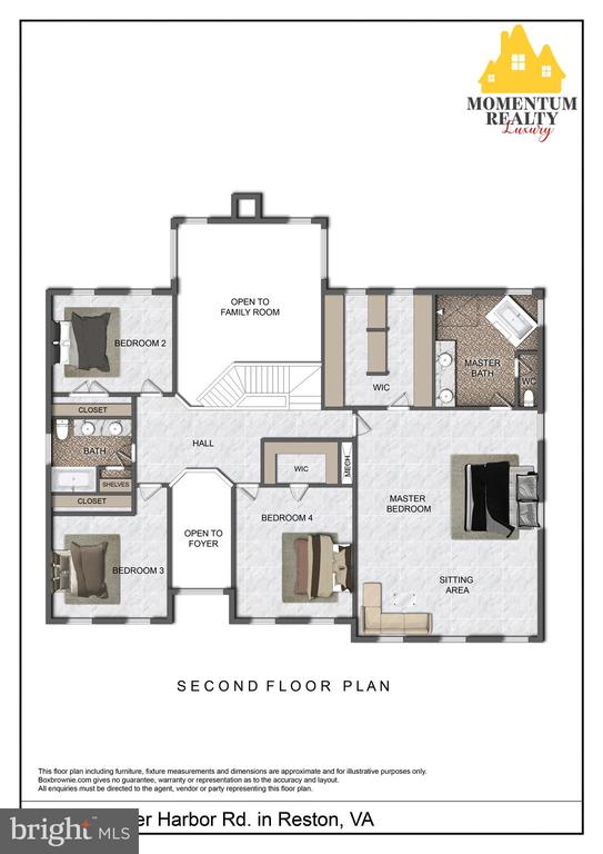 Generously sized bedrooms - 11261 CENTER HARBOR RD, RESTON