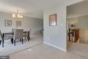 Room for rolling island or kitchen table - 9404 WROUGHT IRON CT, FAIRFAX