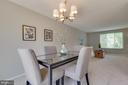 Open dining space - 9404 WROUGHT IRON CT, FAIRFAX