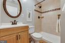 Renovated lower full bathroom - 9404 WROUGHT IRON CT, FAIRFAX