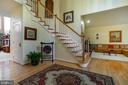 TWO STORY ENTRY~FOYER WITHHARDWOOD FLOORS. - 19676 PLAYER CT, ASHBURN