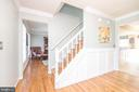 Foyer with hardwood, crown, board & batten - 509 CINDY CT, STERLING