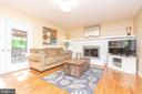 Family room w patio doors to rear deck/yard - 509 CINDY CT, STERLING
