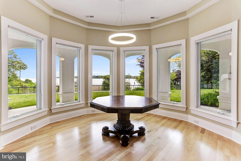 Basement card table area with stunning waterviews - 3 DEEPWATER CT, EDGEWATER
