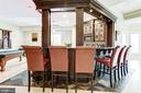 Custom solid oak bar with 6 stools - 3 DEEPWATER CT, EDGEWATER