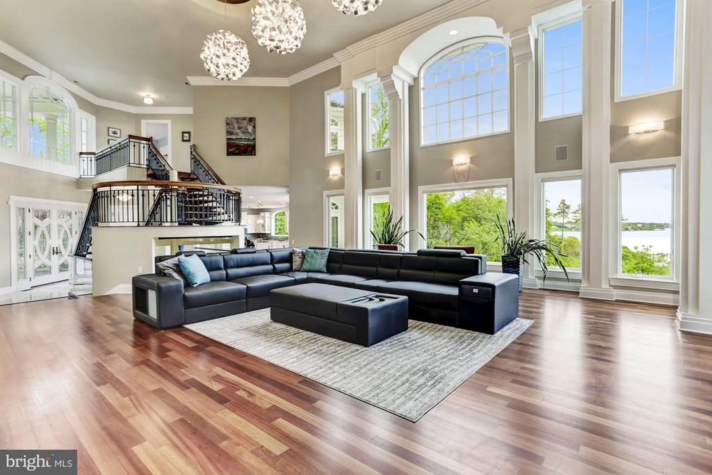 Solid Brazilian cherry wood floors throughout home - 3 DEEPWATER CT, EDGEWATER