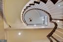 Spiral Staircase to Upper Level - 18184 SHINNIECOCK HILLS PL, LEESBURG