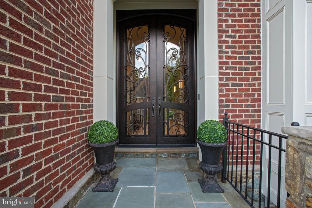Elegant 10 ft Wrought Iron Entry Doors - 18184 SHINNIECOCK HILLS PL, LEESBURG