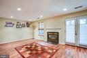 Spacious family room with fireplace - 400 WATERS COVE CT, STAFFORD