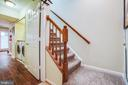 Stairway from lower level to main level - 400 WATERS COVE CT, STAFFORD