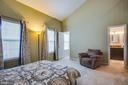 Master bedroom with vaulted ceilings - 400 WATERS COVE CT, STAFFORD