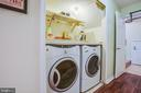 Laundry area with extra space for folding - 400 WATERS COVE CT, STAFFORD