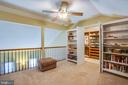 Loft has fabulous closet with organizers - 400 WATERS COVE CT, STAFFORD