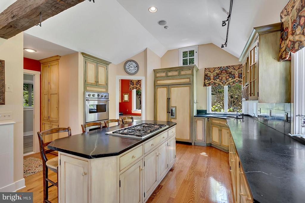 Soapstone counters and Viking double ovens - 39455 DIGGES VALLEY RD, HAMILTON