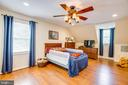 Bedroom 2 (this ceiling fan does not convey) - 6293 WATERFORD RD, RIXEYVILLE