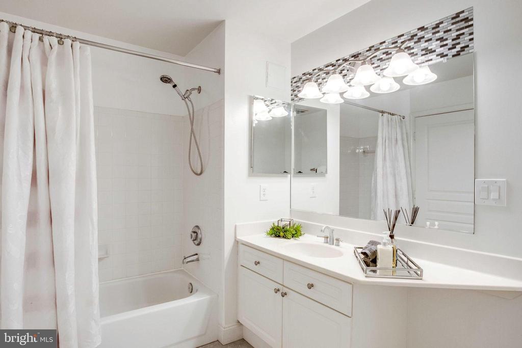 new light fixtures in both bathrooms - 5563 SEMINARY RD #412, FALLS CHURCH