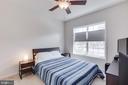 Entry Leve bedroom ceiling fan & light fixture - 23143 FLORA MURE DR, ASHBURN
