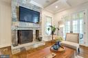 Family room opens to screened porch - 8704 STANDISH RD, ALEXANDRIA