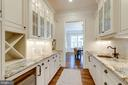 Butlers pantry w/ wine refrig  and copper sink - 8704 STANDISH RD, ALEXANDRIA