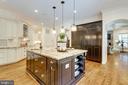 Kitchen w/ custom built-in refrigerator & freezer - 8704 STANDISH RD, ALEXANDRIA