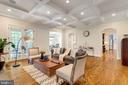 Family room withh coffered ceiling & fireplace - 8704 STANDISH RD, ALEXANDRIA