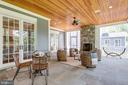 Serenity place  - Screened porch with fireplace - 8704 STANDISH RD, ALEXANDRIA