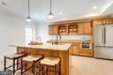 Lower level entertainment kitchen - 8704 STANDISH RD, ALEXANDRIA