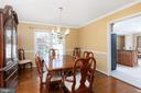 Inviting Formal Dining Room Right off the Kitchen - 11 LAWRENCE LN, FREDERICKSBURG