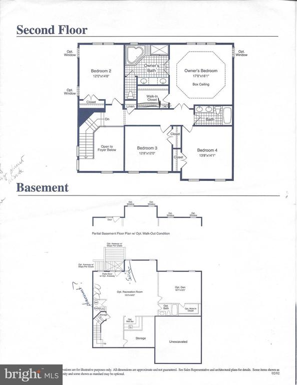 Second Floor and Lower Level Floor Plan - 42951 CORALBELLS PL, LEESBURG