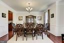 Elegant Dinning Room with Hardwood Floors - 41521 GOSHEN RIDGE PL, ALDIE