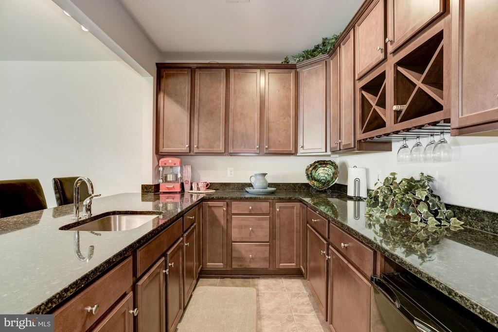 Wet Bar with Granite and Custom Cabinetry - 41521 GOSHEN RIDGE PL, ALDIE
