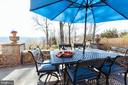 Flagstone Patio off the sunroom with valley views. - 18490 BLUERIDGE MOUNTAIN RD, BLUEMONT
