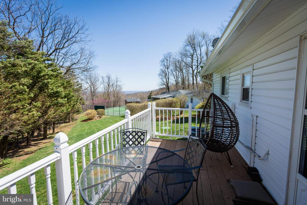 View from tenants back deck - 18490 BLUERIDGE MOUNTAIN RD, BLUEMONT