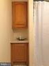 lower level bath  with extra cabinet space - 5508 ELDER ST, FREDERICKSBURG