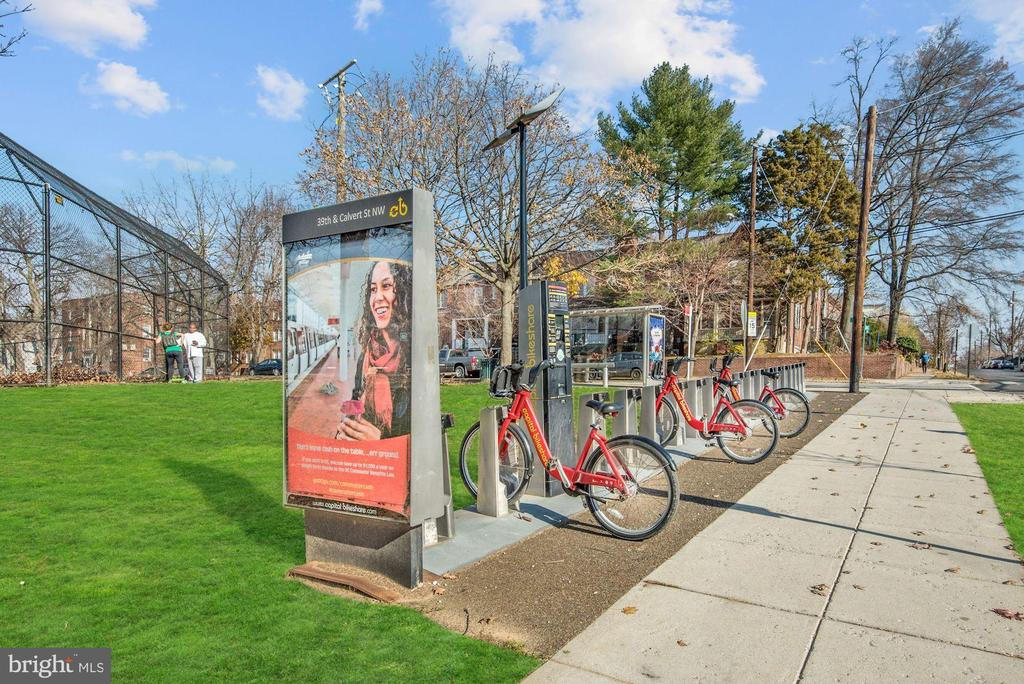 One of three Bikeshare stations - 3900 TUNLAW RD NW #317, WASHINGTON