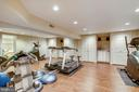Exercise room with recessed lighting - 11 CLIMBING ROSE CT, ROCKVILLE