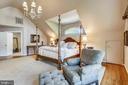 Master bedroom suite with dormer window - 11 CLIMBING ROSE CT, ROCKVILLE