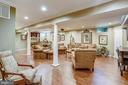 Fully finished lower level recreation room - 11 CLIMBING ROSE CT, ROCKVILLE