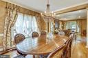 Formal dining room with hardwoods - 11 CLIMBING ROSE CT, ROCKVILLE