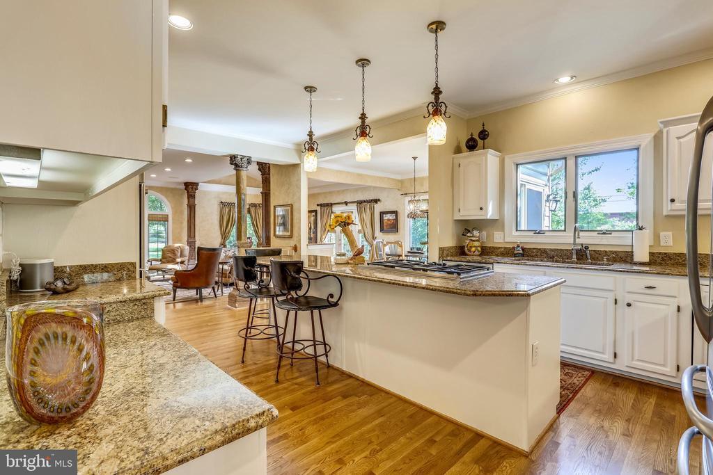 Gourmet kitchen with hardwood flooring - 11 CLIMBING ROSE CT, ROCKVILLE