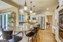 Stainless steel appliances and pendant lighting - 11 CLIMBING ROSE CT, ROCKVILLE