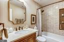Renovated full hall bath #2 on upper level - 11 CLIMBING ROSE CT, ROCKVILLE