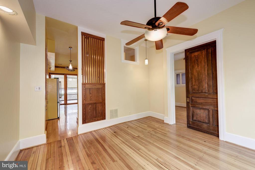 Pocket Doors from Living to Foyer - 2506 CLIFFBOURNE PL NW, WASHINGTON