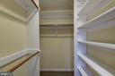 Master Walk-In Closet - 2506 CLIFFBOURNE PL NW, WASHINGTON