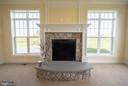 Custom Mantel/Stone Fireplace & Hearth - 208 SAINT ANDREWS CT, WINCHESTER