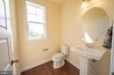 Powder Room on Main Floor - 208 SAINT ANDREWS CT, WINCHESTER