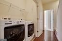 Full washer and dryer on bedroom level - 8319 LOOKING GLASS WAY, FAIRFAX