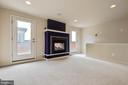 Upper level rec room with 2-sided fireplace - 8319 LOOKING GLASS WAY, FAIRFAX
